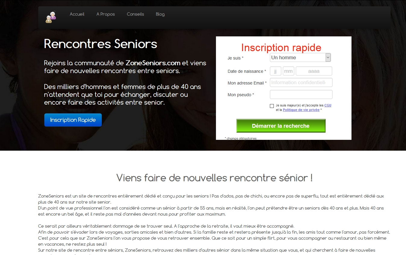 Rencontre seniors 45